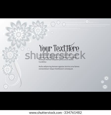 Elegant vector lettering in abstract style with place for text. Perfect for invitations, greeting cards, save the date. - stock vector