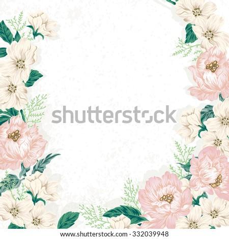 Elegant vintage flower illustration wedding board stok vektr elegant vintage flower illustration wedding board design pink mightylinksfo