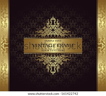 Elegant vintage invitation. Vintage background. Luxury design       - stock vector