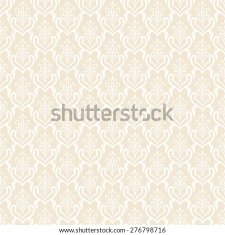 Elegant vintage seamless pattern. Classic vector background. - stock vector