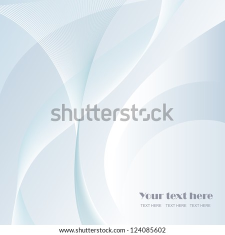 Elegant Wavy Background - Vector illustration. Beautiful background for your design - stock vector