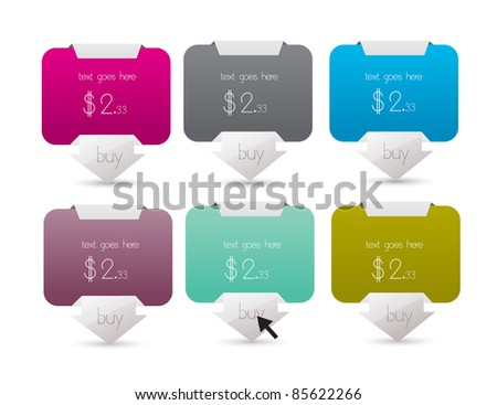 elegant web banner set best for online sale - stock vector