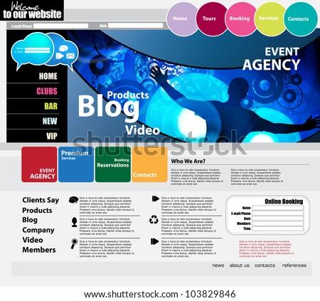 Elegant web site design template - stock vector