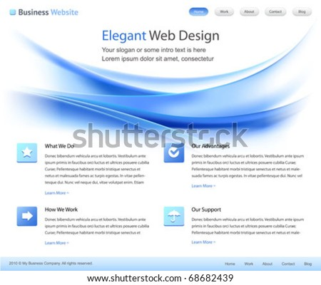 elegant web site design template - vector - stock vector