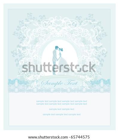 elegant wedding invitation - stock vector