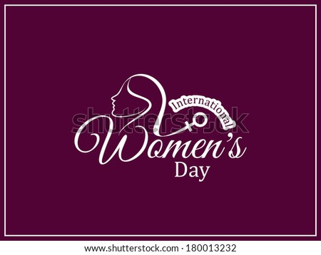 Elegant women's day card design. vector illustration - stock vector