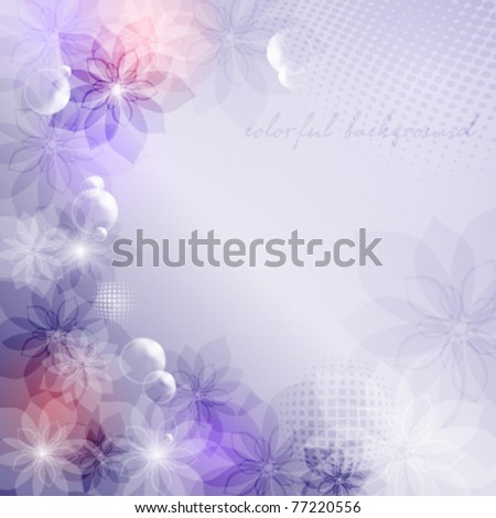 Elegantly background with transparent flowers , eps10 format - stock vector