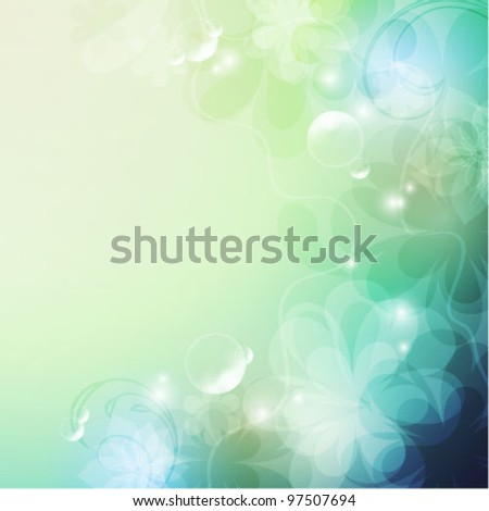 Elegantly floral background, eps10 format - stock vector