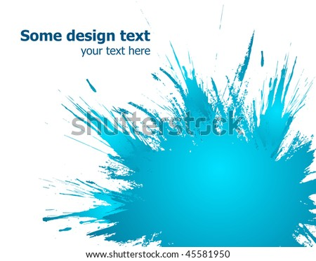 Elegants paint splash background with place for your text. - stock vector