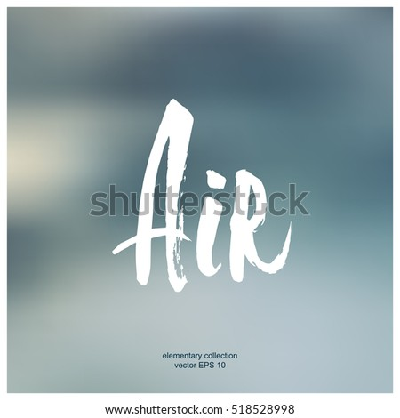 Element Air Typography Isolated Single Word