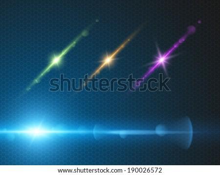 Magic Wand Magical Sparkle Glitter Trail Stock Vector