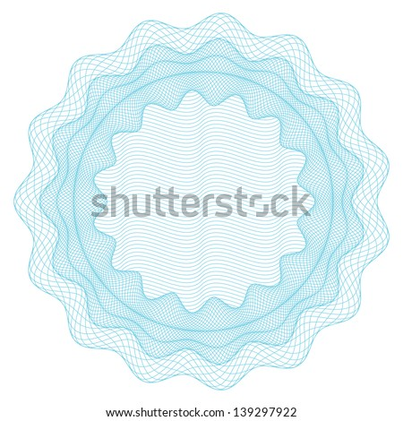 Element for voucher, money, certificate, passport - stock vector