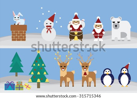 element of vector set for christmas festival - stock vector