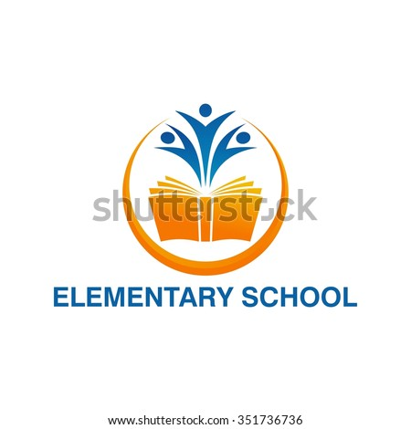 Elementary education logo template - stock vector