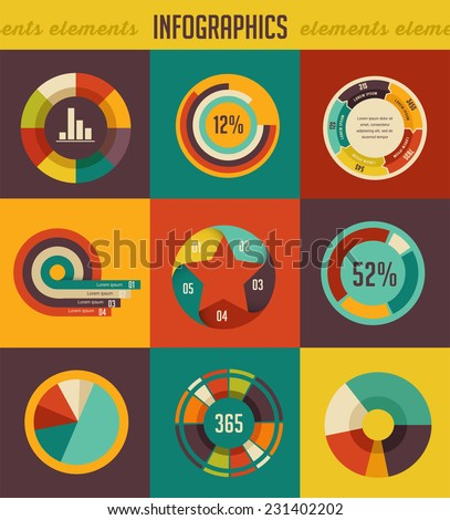 Elements backgrounds and icons of infographics - stock vector