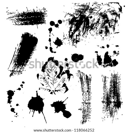 Elements for grunge design, vector image - stock vector