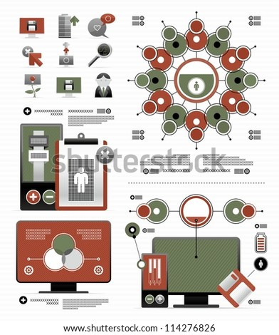 elements for infographic - stock vector