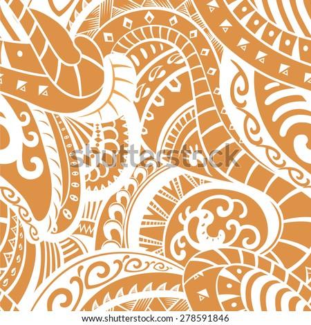 Leaf pattern background retro botanical style stylish flowers print - Polynesian Stock Images Royalty Free Images Amp Vectors