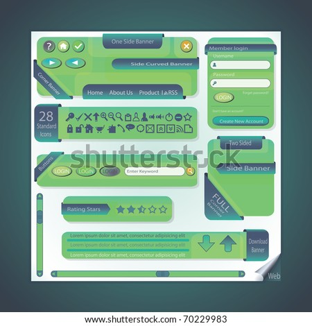 Elements For Web - stock vector