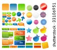 Elements for web design - stock vector