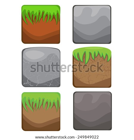 elements for web design and user interface of computer games stone background landscape