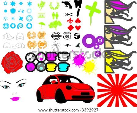 elements graphic - stock vector