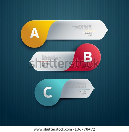 Elements of infographic. - stock vector