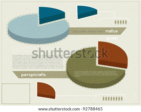 Elements of infographics in retro style, eps10 vector - stock vector