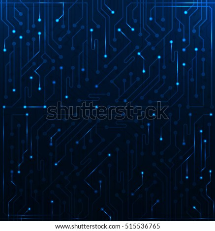 Elements Of The Microchip Which Glow Background For Wallpaper Websites Or Your Presentation