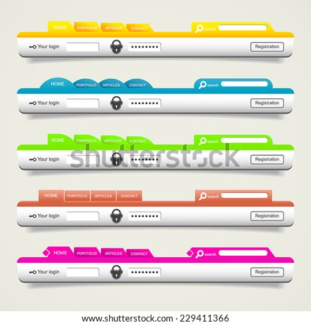 Elements of web design - stock vector