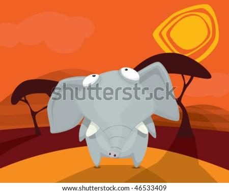 Elephant. - stock vector