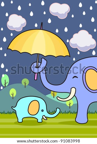 elephant, - stock vector