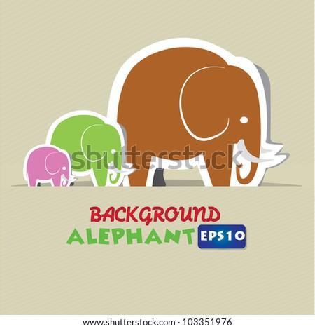 Thai Elephant Vector Elephant Cartoon Vector