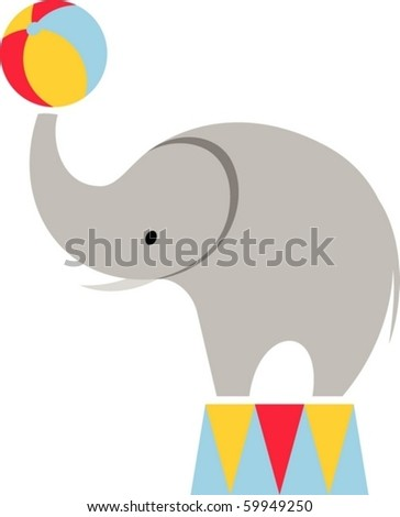 elephant in the circus - stock vector