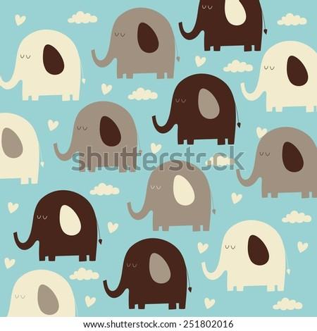 elephant pattern design - stock vector