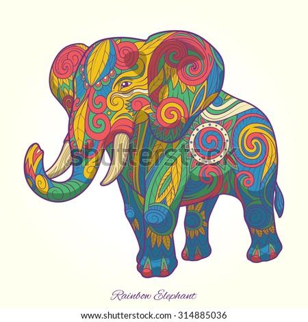 colorful tribal elephant wallpaper wwwpixsharkcom