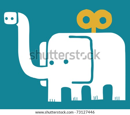 elephant toy with key