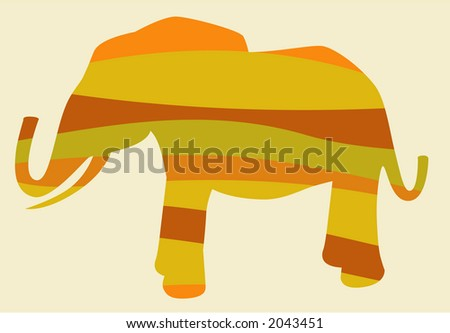 Elephant Vector Design that is fully editable. - stock vector