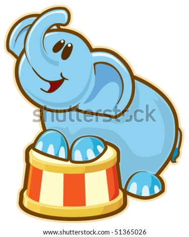 Elephant. Vector without gradients, great for printing. - stock vector