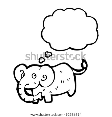 elephant with thought bubble