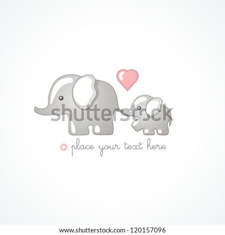 elephants - stock vector