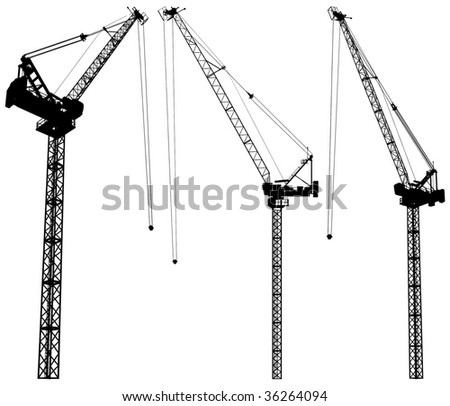 Elevating Construction Crane Vector 02 - stock vector