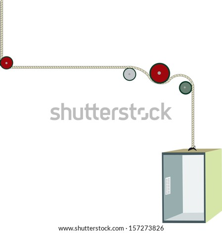 Elevator - isolated vector - stock vector