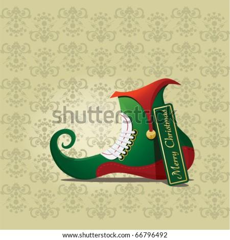 Elf shoe - stock vector
