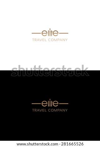 Elite travel company logo teamplate. - stock vector