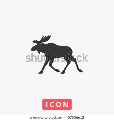 Elk Icon.  - stock vector