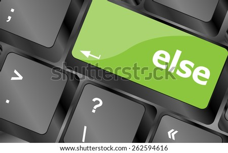 else button on computer pc keyboard key - stock vector