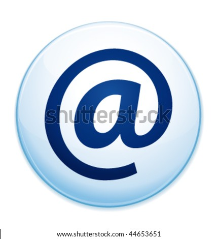 Email address icon. Vector illustration. - stock vector
