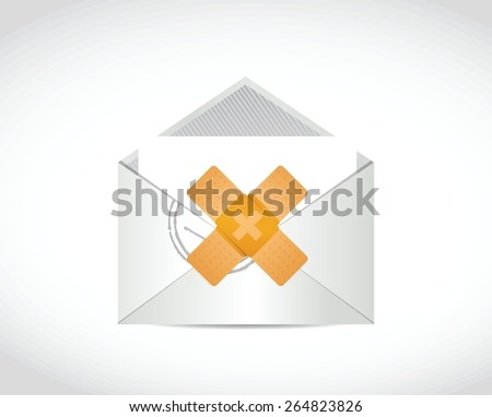 email band aid fix solution concept illustration design over white background - stock vector