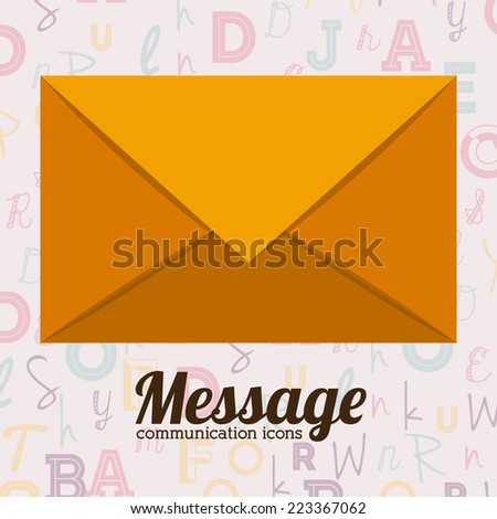 Email design over white background, vector illustration